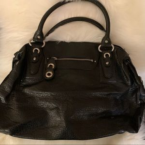 Jessica Simpson Black Bag w Gingham Lining